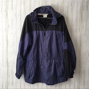 columbia • Blue Vintage Windbreaker Hooded Jacket
